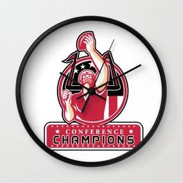 Football Conference Champions Atlanta Retro Wall Clock
