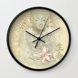 Find Your Bliss {Antique Inspired} Buddha Print Wall Clock