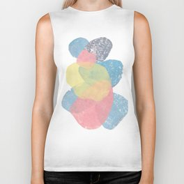 Happy Cairn Graphic Abstract Print Biker Tank