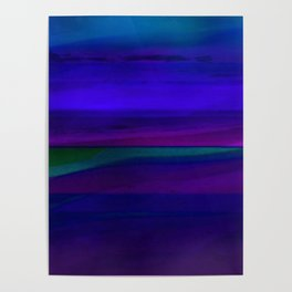 Seascape At Night Poster