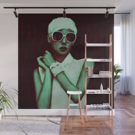 beautiful Fashion model with glasses Wall Mural