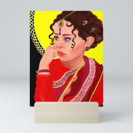 Indian Girl | Acrylic Portrait Painting Mini Art Print