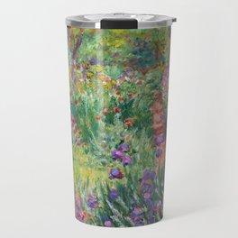 The Iris Garden at Giverny by Claude Monet Travel Mug