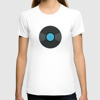 records T-shirts featuring Vinyl Records by PatternInk