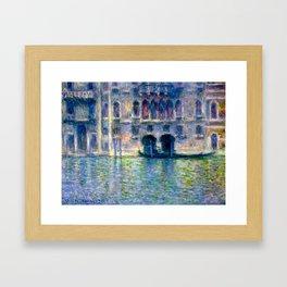 Claude Monet Palazzo da Mula in Venice Framed Art Print