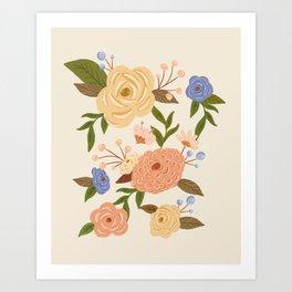 Secret Garden - Buttercream Art Print