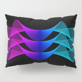 Gradient Lines Abstract 2 Pillow Sham