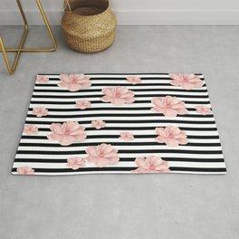 Romantic floral pattern Rug