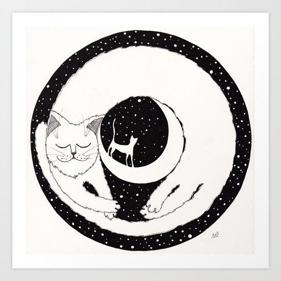 cats life: dreaming Art Print