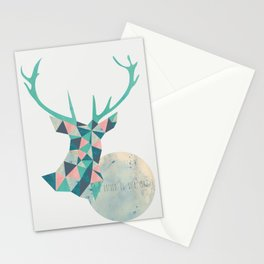 I'd rather be a deer Stationery Cards