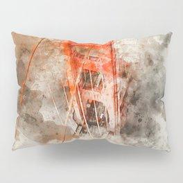 Golden Gate Bridge - Watercolor Pillow Sham