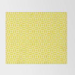 Moroccan Tiles Yellow Throw Blanket