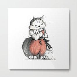 Monk Norwegian Forest Cat Metal Print