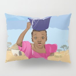 African Village Girl Pillow Sham