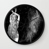 apollonia Wall Clocks featuring asc 604 - L'invocation à Vénus (Venus under the sky) by From Apollonia with Love
