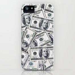 Hundred dollars bills iPhone Case