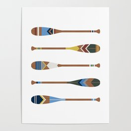 Painted Oars Poster