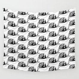 Snails Drawing/Pattern Wall Tapestry