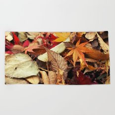 Indian Summer - Colorful Autumn Leaves Beach Towel