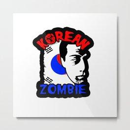 korean zombie shirt Metal Print