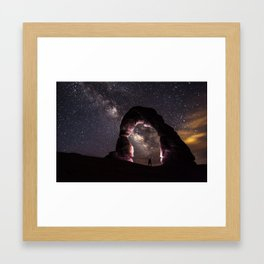 Delicate arch night Framed Art Print
