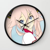 vocaloid Wall Clocks featuring IA Vocaloid by Brittany's Drawings and Doodles