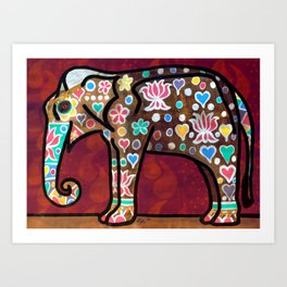 The Elephant Festival Art Print