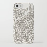 nashville iPhone & iPod Cases featuring Nashville Map by Zeke Tucker