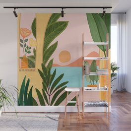 Moroccan Coast - Tropical Sunset Scene Wall Mural