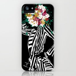 Stripes & Flowers iPhone Case