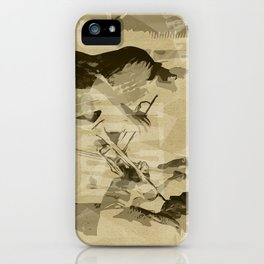 Two Trumpeter. Jazz Club Poster iPhone Case