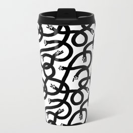 Hands Hands Hands Metal Travel Mug