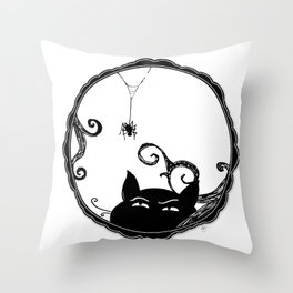 Familiar and Friend Up Close Throw Pillow
