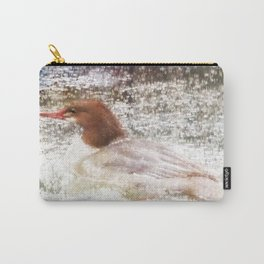 Merganser Fishing in the Rain Carry-All Pouch