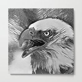 AnimalArtBW_Eagle_20170601_by_JAMColorsSpecial Metal Print
