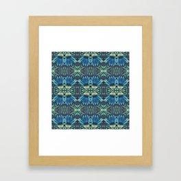 Blue Echinacea, Teal Cone Flowers, Blue Flower Dream Framed Art Print