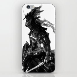Female knight iPhone Skin