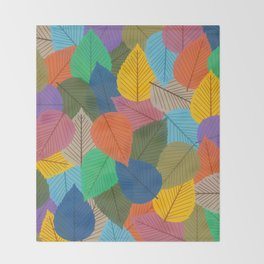 Leaves, Leaves, Leaves - Autumn is Coming - 57 Montgomery Ave Throw Blanket