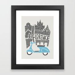 Florence Cityscape Framed Art Print