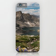 Alpine Lakes, Wildflowers and Mountains in the Wyoming Wilderness iPhone 6s Slim Case