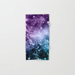 Purple Teal Galaxy Nebula Dream #4 #decor #art #society6 Hand & Bath Towel