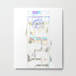 A Look Through The Display Window Metal Print