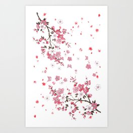 Plum Blossoms in Spring (Ume) Art Print