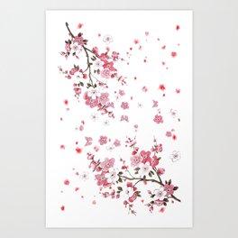 Plum Blossoms in Spring (Ume) Art Print