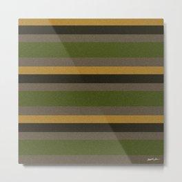 Cactus Garden Stripes 4H Metal Print