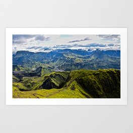 Icelandic Fjord Art Print