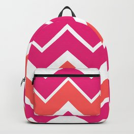 Big Chevron:  Fuchsia + Coral Backpack