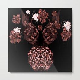 The Rose Rabbit- 3D Surreal Mixed Media Metal Print