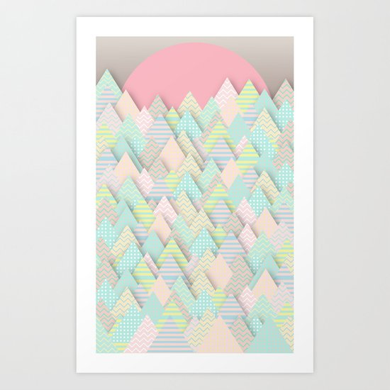 Forest Pastel Art Print