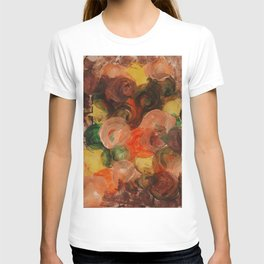 Neutral Roses, Home Decor, Kitchen Wall, Floral, Abstract Circles T-shirt
